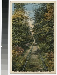 Home stretch on Switchback Railroad, Mauch Chunk, Pennsylvania, 1915-1917