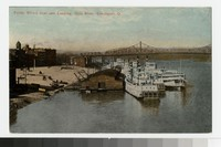 Public Wharf Boat and Landing, Ohio River, Cincinnati, Ohio, 1907-1914