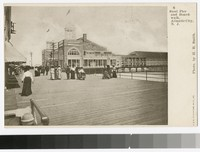 Steel pier and boardwalk, Atlantic City, New Jersey, 1901-1907