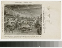 Artist's depiction of the Automat Restaurant, Philadelphia, Pennsylvania, 1901-1906