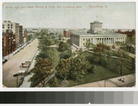 Bird's-eye view from Broad and High Streets, Columbus, Ohio, 1907
