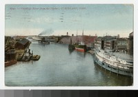Cuyahoge River from the viaduct, Cleveland, Ohio, 1907-1909