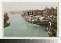 River from the viaduct, Cleveland, Ohio, 1907-1914