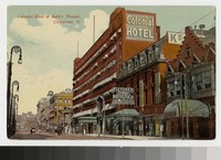 Colonial Hotel and Keith's Theater, Cleveland, Ohio, 1907-1912
