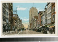 Hamilton Street West from Square, Allentown, Pennsylvania, 1915-1929