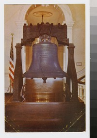 Liberty Bell in Independence Hall, Philadelphia, Pennsylvania, 1945-1960