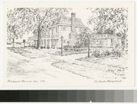 Artists' depiction of Robert Morris Inn, Oxford, Maryland, 1907-1914