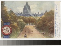Artist's depiction of the Wisconsin State Capitol, Madison, Wisconsin, 1907