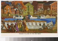 Artist's depiction of Roscoe Village in the mid-1800's, Coshocton, Ohio, 1961-1980