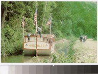 Canal boat Monticello II on the Ohio-Erie Canal, Coshocton, Ohio, 1961-1980
