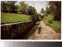 Triple locks of the old canal, Coshocton, Ohio, 1961-1980