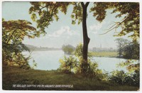 Auglaize River emptying into the Maumee River, Defiance, Ohio, 1907-1914