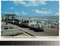 Boardwalk sightseeing train, Ocean City, Maryland, 1971-1979