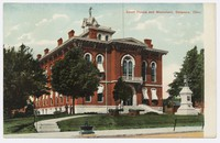 Court House and Monument, Delaware, Ohio, 1907-1914